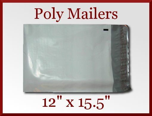 100 Premium Self Seal 12 x 15.5 in White Poly Mailer Bags Envelopes Made in USA Priced at $29.98