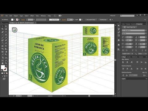 How to Apply Flat Graphics to the Perspective Grid in Adobe Illustrator - YouTube