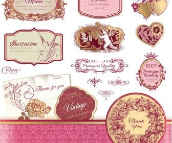 27 best free vectors images on pinterest free vector graphics set of decorative vector vintage wedding labels and frames in classic style for your wedding embellishment invitation cards and decorations stopboris Choice Image