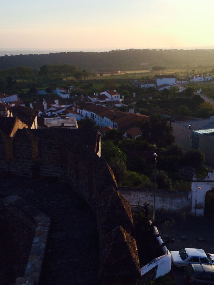 View from the castle Alandroal (Alentejo, Portugal)
