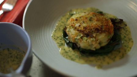 Fish cakes with chive beurre blanc from James Martin's Home Comforts for Christmas