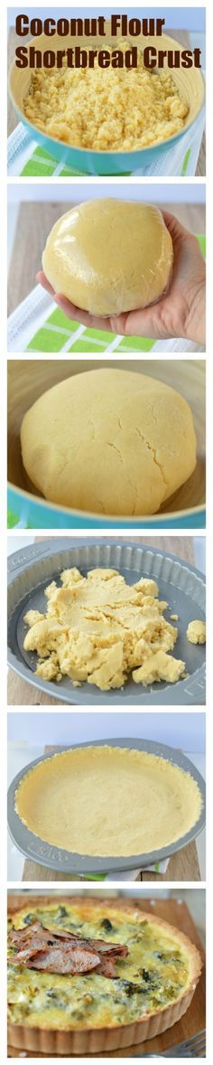 Coconut Flour Shortbread Crust a 4 ingredients easy and simple crust. Paleo, diabetes friendly and gluten free.