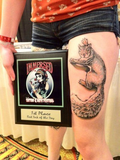 Tattoo by Samantha at Mastermind Ink Chicago  First convention, first day, first place tattoo of the day. So excited.