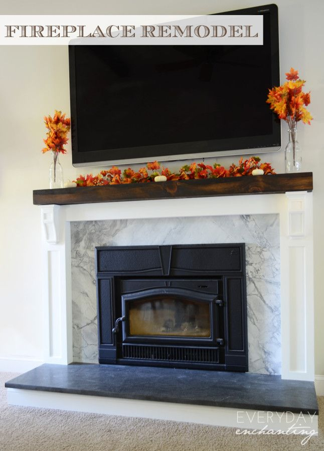 How To Cover A Brick Fireplace With Stone WoodWorking
