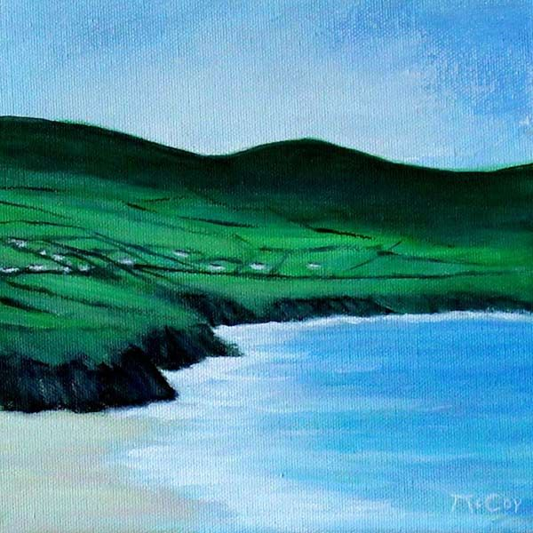 Beach at Dingle Peninsula – Original Oil Painting on Canvas – Ready To Hang: Superb atmospheric oil painting capturing the… #IrishArt