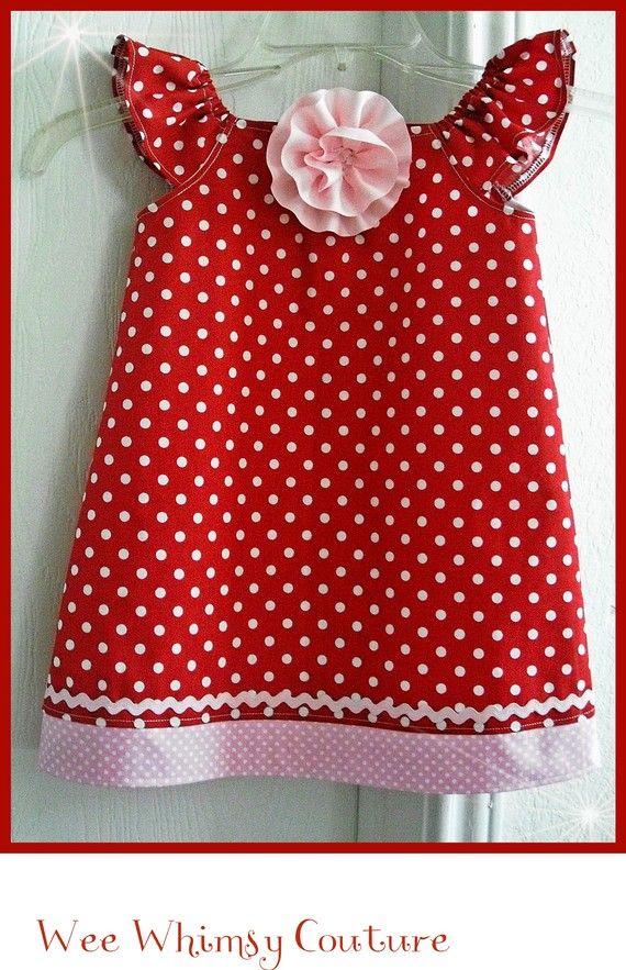Sweet = child's red polka dot dress