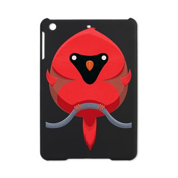Cartoon Cardinal iPad Mini Case from cafepress store: AG Painted Brush T-Shirts. #cardinal #bird #iPad #iPadMini