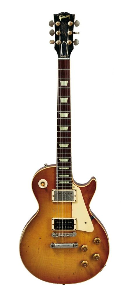 """Jimmy Page's """"59 Les Paul No. 1 He bought this one for $500 from Joe Walsh in 1969"""