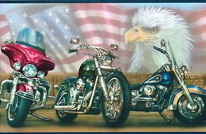 """ Harley Davidson "" All American Flag Plus Eagle Wallpaper"