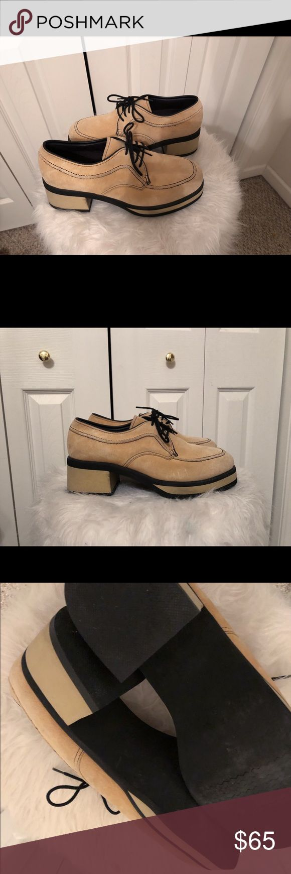 Hush Puppies Stacked Block Heel Loafers Classic with a fun twist. Like new, size 8.5. Hush Puppies Shoes