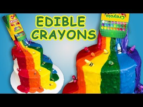 Crayon Waterfall Cake Tutorial (Back to School) w/ Edible Crayons ~ Cookies, Cupcakes, and Cardio