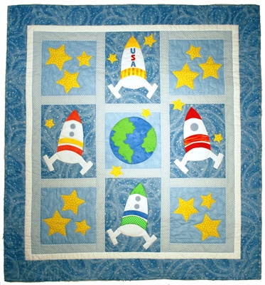 17 best images about boy quilts on pinterest free for Space quilt pattern