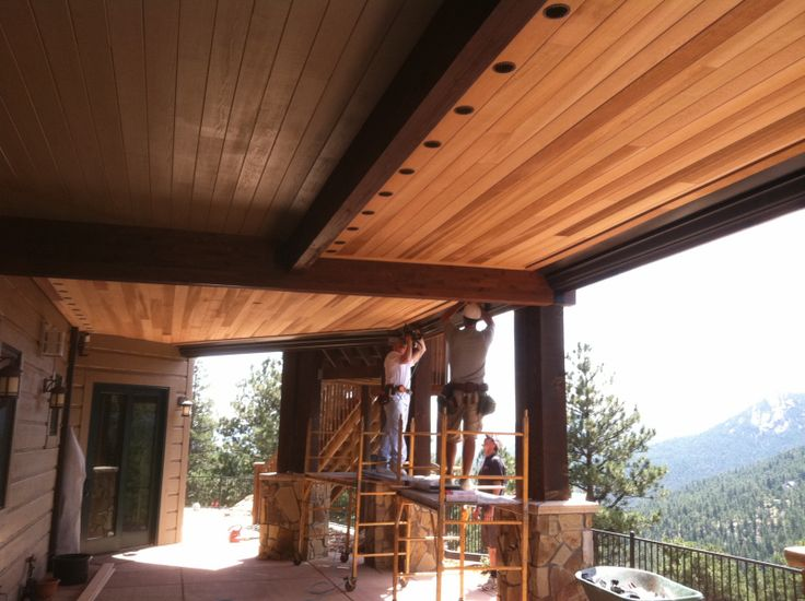 Wood Deck With Underneath Walkout Colorado Dry B Lo