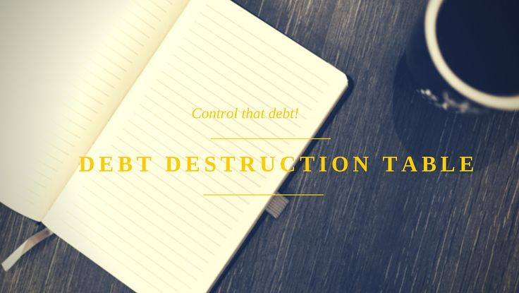We may all get overwhelmed with debt from time to time but as long as we maintain control then we can manage that debt without fear or panic. Read my #GemOfTheDay on how to destroy debt #debtmanagement #money #WednesdayWisdom #finance #entrepreneurship #debtdestructiontable #future #finances #financialfreedom #balance #fear #panic