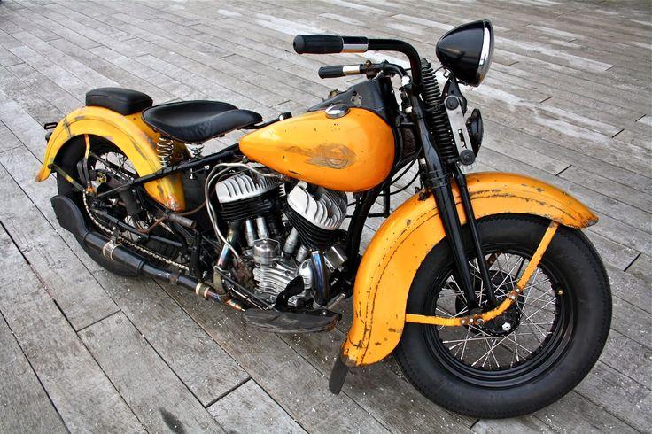 Harley-Davidson WLC 750 by Customs from Jamesville - Moto Rivista Hd Vintage, Vintage Bikes, Vintage Motorcycles, Custom Motorcycles, Custom Bikes, Old School Motorcycles, Motos Harley Davidson, Vintage Harley Davidson, Scooters
