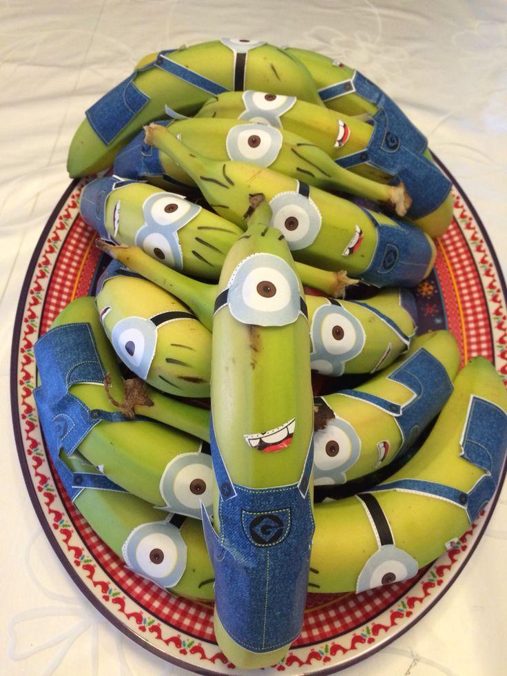 Minion bananas traktatie crèche