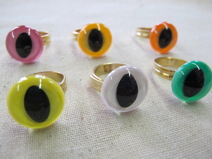 Cat Eye Rings. multi-pack of 6. $28.00, via Etsy.