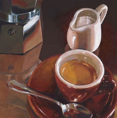 Caffe del Mattino Coffee Still Life Fine Art Print by artist 'Landi'.*