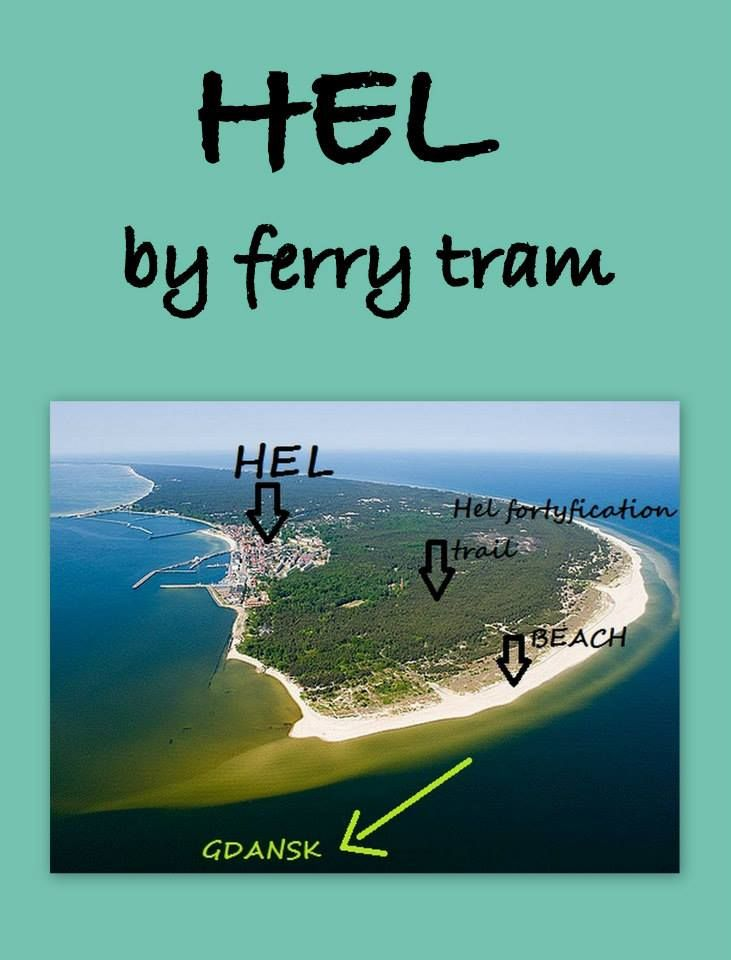 Beautiful Hel Peninsula - get there by a ferry tram