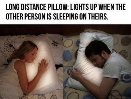 Long Distance Relationship Light Pillows (this is cute but i feel like it would be annoying when youre trying to sleep)