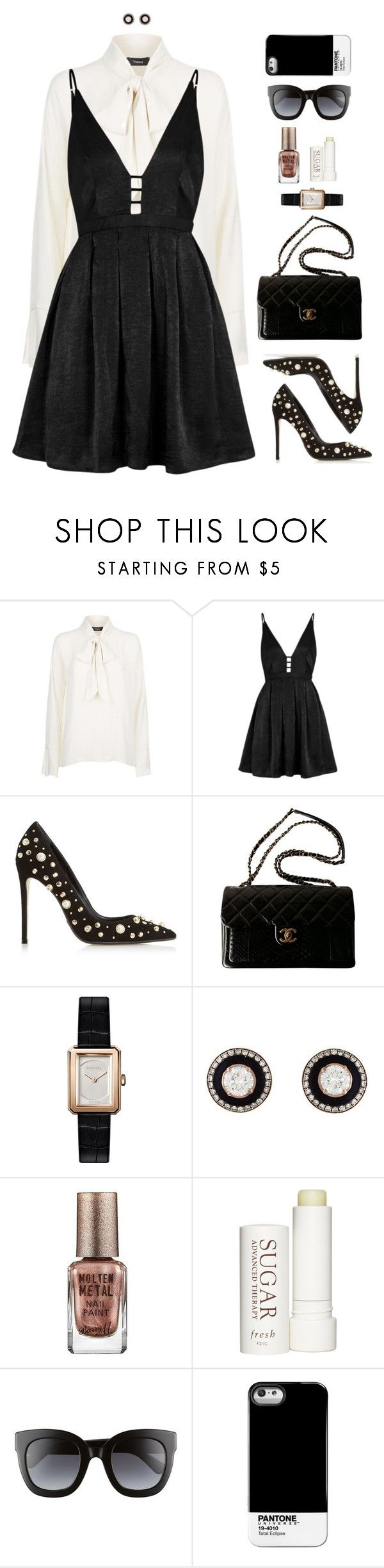 """""""Olivia"""" by xoxomuty on Polyvore featuring Free People, Dune Black, Chanel, Selim Mouzannar, Barry M, Therapy, Gucci, Pantone Universe, ootd and polyvoreOOTD"""