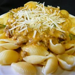Pasta with Italian Sausage and Pumpkin Sauce - Allrecipes.com