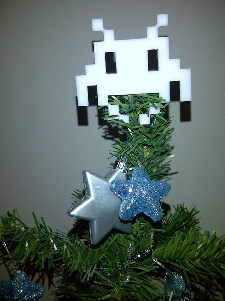 "3D Printed Space Invader Christmas Tree ""Angel"" – 40 DIY Gift Surprise Ideas for a Gamer Boyfriend or Girlfriend – Big DIY IDeas"