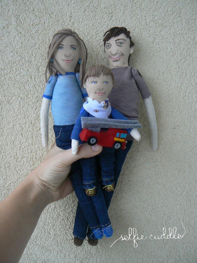Personalised handmade fabric dolls, portrait dolls, art dolls, embroidery