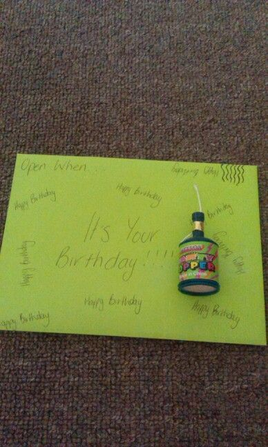 This letter is obviously equipped with a party popper. It also has a candle and lots of confetti inside because who doesnt love it when confetti ends up all over the place on their birthday