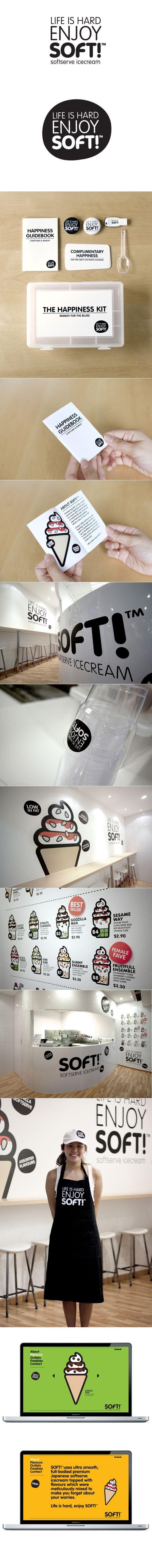 SoftTM branding by Bravo Company. Yumm #identity #packaging #branding