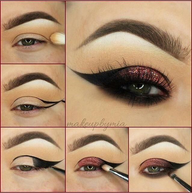 3 Stunning Makeup Looks - Red winged liner pictorial from makeupbymia that is seriously awesome!
