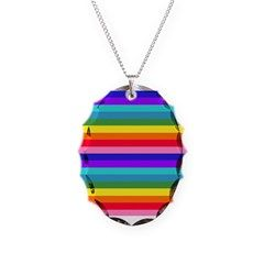 Stripes of Rainbow Colors Necklace by Khoncepts.com