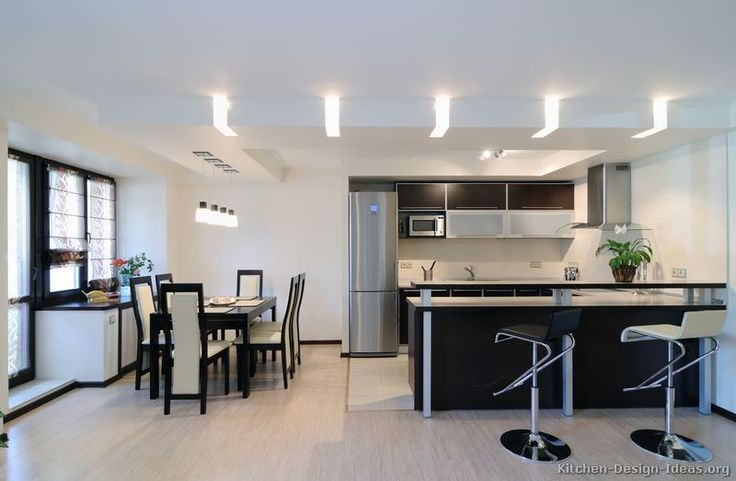 #Kitchen Idea of the Day: Love the soffit lighting in this modern kitchen.