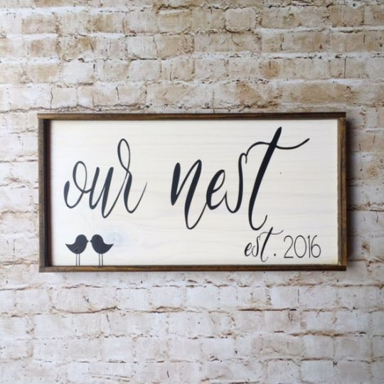 Personalized Our Nest Framed Sign
