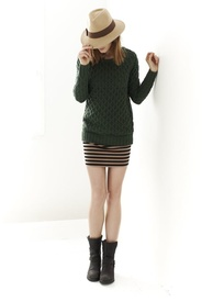 Best cable knit sweater EVER. She's not available as yet... figures ...