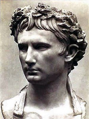 ~AUGUSTUS: The first Roman emperor, also called Octavian, adopted by Caesar and gained power by his defeat of Antony, he then became the emperor in effect~