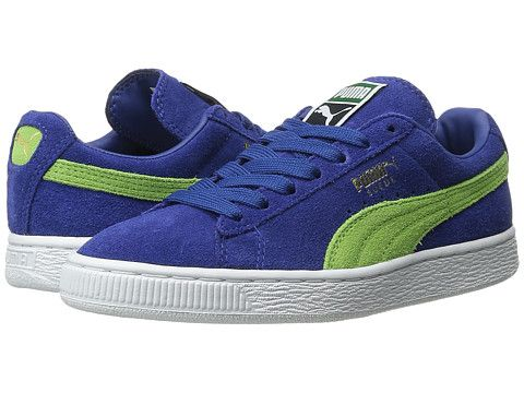 cheap for discount 0529c 8ee98 Puma Suede Blue Green wearpointwindfarm.co.uk