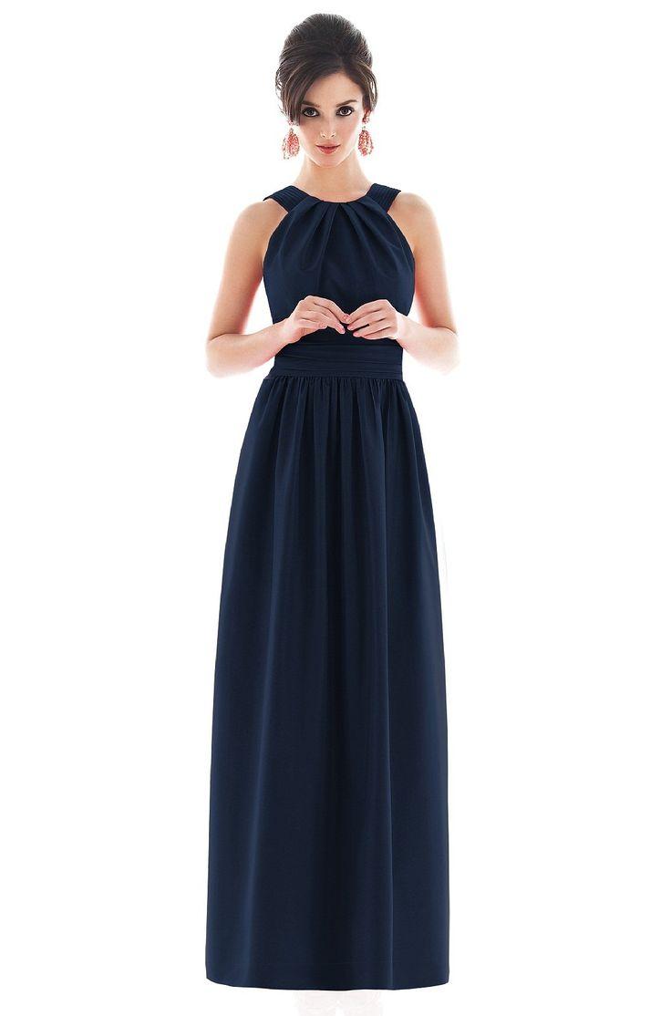In love with this long bridesmaid dress!  Alfred Sung D493 Bridesmaid Dress | Weddington Way