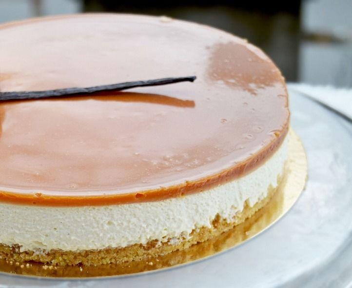 Un dessert bien gourmand ! frais , léger et crémeux le top ! idèal pour finir un repas en beauté car les saveurs vanille/caramel se mêle à merveille pour le bonheur des papilles! j'ai décidé de faire un fond sablé mais libre à vous de réaliser un biscuit...
