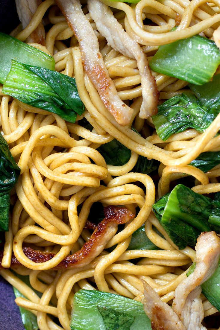 This Shanghainese noodle recipe, from the British cook and food writer Fuchsia Dunlop, can be made vegetarian by omitting the pork. Do seek out light and dark soy sauces; light soy sauce adds salty-umami flavor and dark soy sauce adds color. (Photo: Lisa Nicklin for The New York Times)