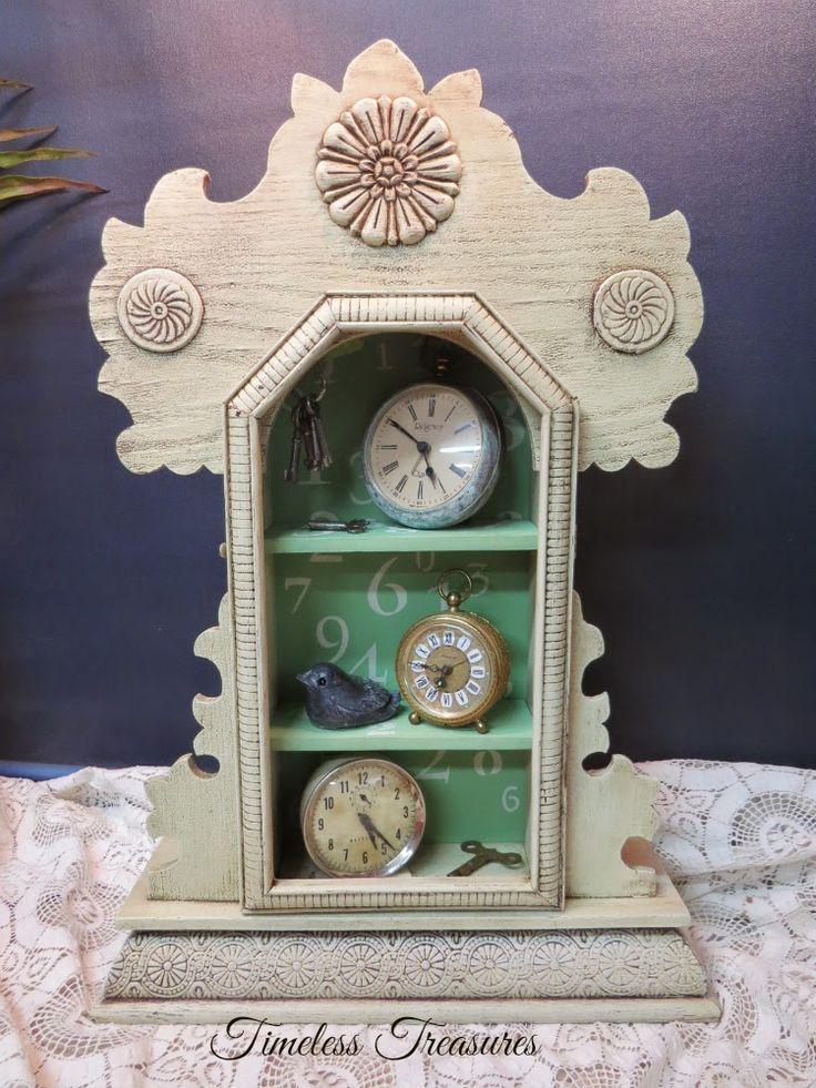 Timeless Treasures Vintage Clock Case Shelf For Clocks