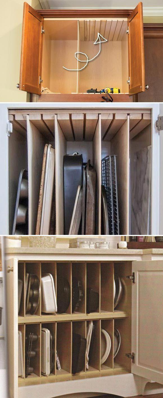 Subtle Transferred Kitchen Cabinet Organization Look At Diy Kitchen Storage Vertical Storage Pan Storage