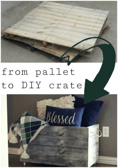 From a free pallet to a DIY wooden crate on wheels, perfect for extra storage around the house | How to Build a DIY Wooden Crate for Extra Storage at Home