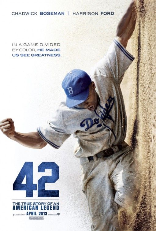 """42"" Very good & ernest film. Excellent performances. Not ""pain porn"", not a white saviour story. My favorite: the relationship between Jackie & his wife!"