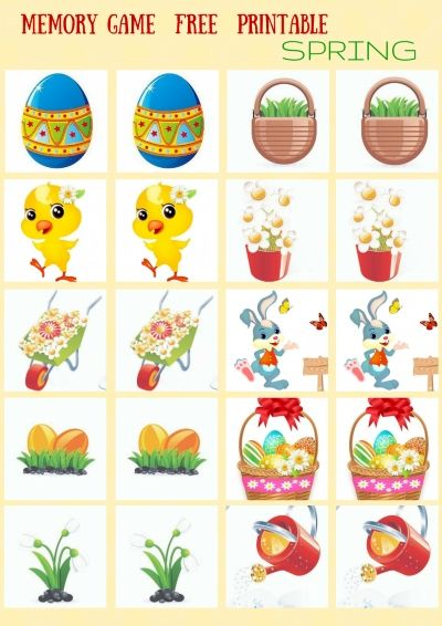 25 best ideas about memory games on pinterest kids memory games memory games for kids and - Jeux memoire a imprimer ...