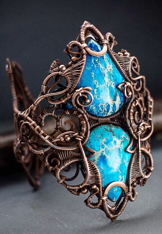 Complicated Copper #wire #wrapped bracelet