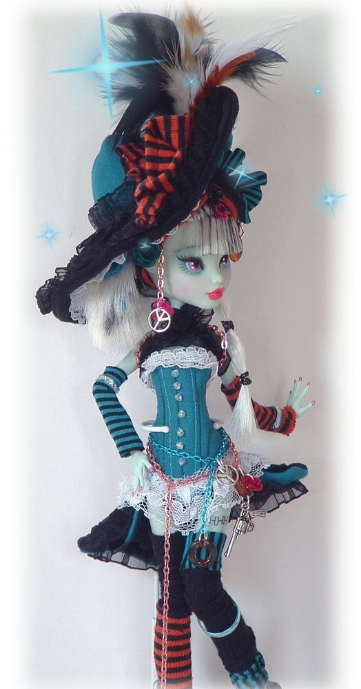 monster high repaint  Saloon Girl  full costume ooak doll  cute and sexy #repaintdollbyartist