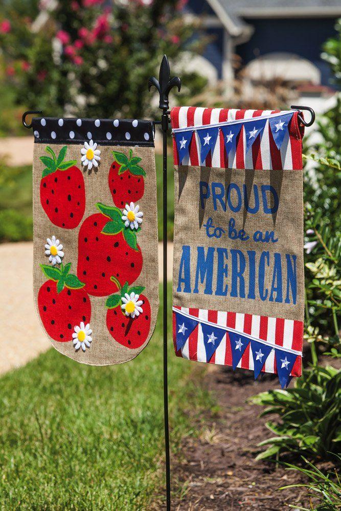 Dual Arm Metal Garden Flag Stand Garden Flag Stand Evergreen Enterprises Garden Flag Holder
