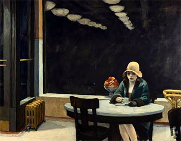 Edward Hopper | automat 1927 This is another work by Hopper that depicts a time when a lot of people were moving out of small towns and into big cities to live and work. This meant that more people were living in isolation as they didn't know anyone, so even in a city filled with millions a person could be alone. Why is this woman alone at night? Is she waiting? Has she been waiting a long time? Hopper also does a good job at depicting time with the contrast between artificial light and…