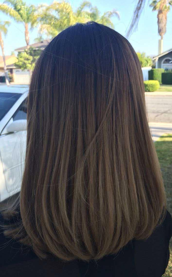 49 Beautiful Light Brown Hair Color To Try For A New Look Gorgeous Balayage Hair Color Ideas Brown Balayag Shoulder Hair Straight Hairstyles Long Hair Styles